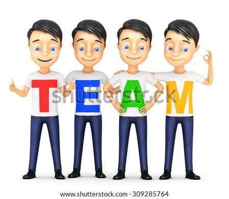 3d business team on a white background - stock photo
