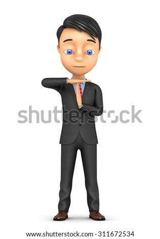 3d businessman taking time out on a white background - stock photo
