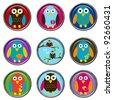 3D Button - Birds - stock photo