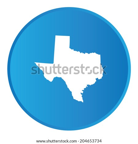 3D Button with the shape of American State - Texas