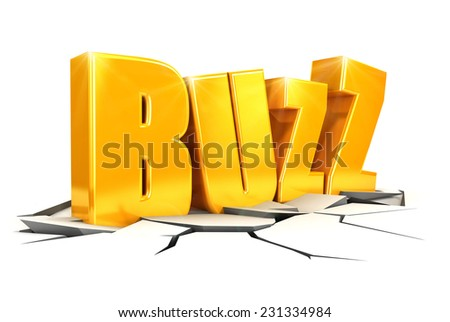 3d buzz concept, isolated white background, 3d image - stock photo