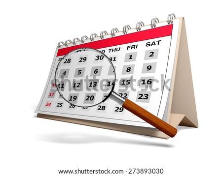 3D. Calendar, Event, Personal Organizer. - stock photo