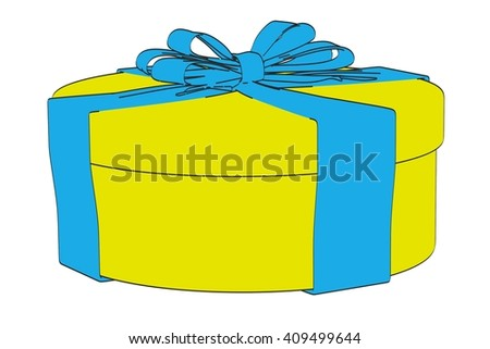 2d cartoon illustration of gift