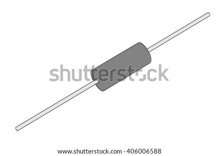2d cartoon illustration of resistor part