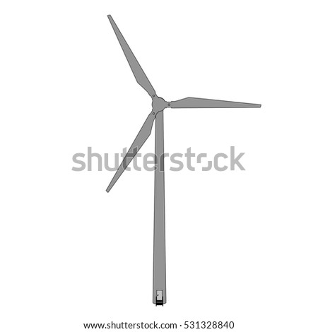 2d cartoon illustration of turbine