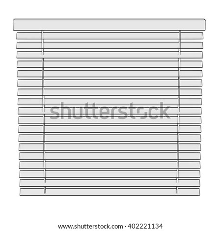 2d cartoon illustration of windows blinds