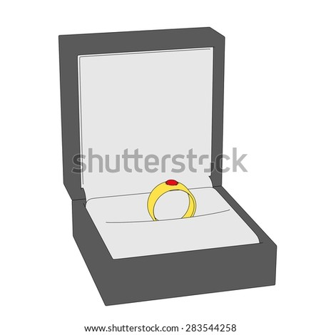 2d cartoon image of ring - stock photo