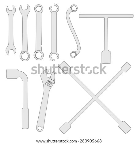 2d cartoon image of wrenches