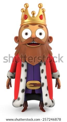 3D Cartoon King  - stock photo