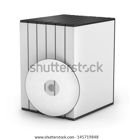 3D CD cover on white background  - stock photo
