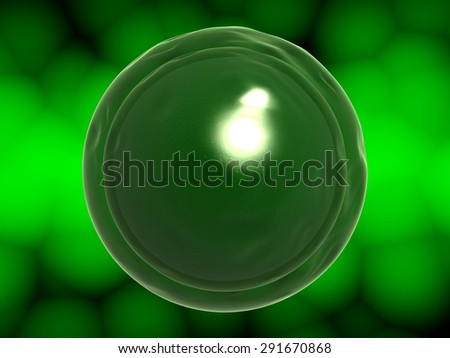 3D. Cell, Human Cell, Animal Cell. - stock photo
