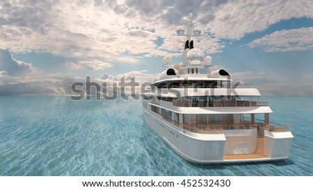 3D CG rendering of a cruiser - stock photo