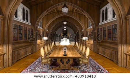 3D CG rendering of a dining room