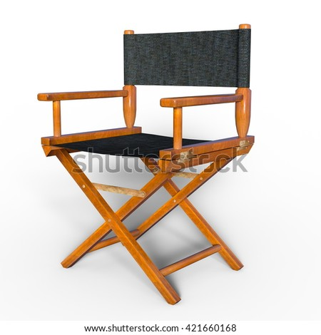 3D CG rendering of a director's chair