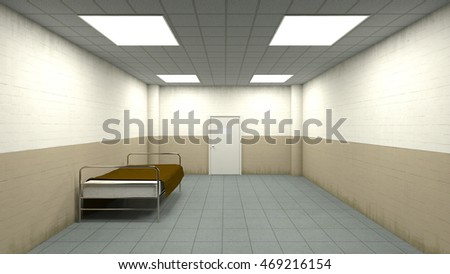 3D CG rendering of a isolation room