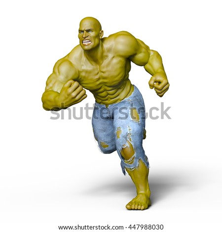 3D CG rendering of a monster - stock photo