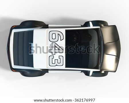 3D CG rendering of a police car