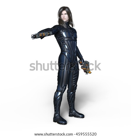 3D CG rendering of a super hero