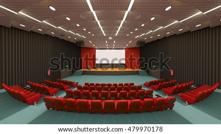 3D CG rendering of a theater