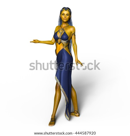 3D CG rendering of a young woman - stock photo