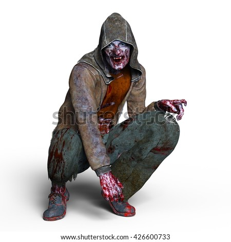 3D CG rendering of a zombie