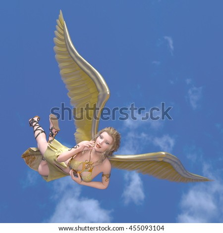 3D CG rendering of an angel