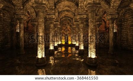 3D CG rendering of antiquity - stock photo