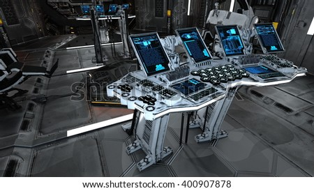 3D CG rendering of control room