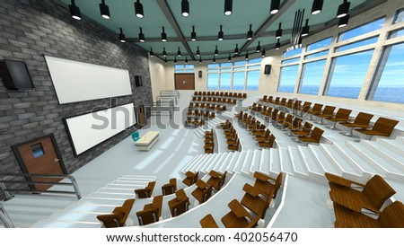 3D CG rendering of convention hall