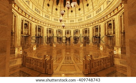 3D CG rendering of grand hall