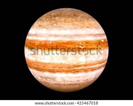 3D CG rendering of Jupiter - stock photo