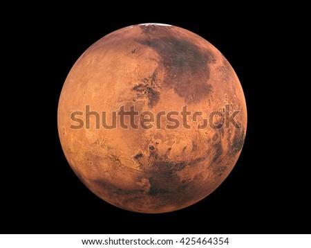 3D CG rendering of Mars - stock photo