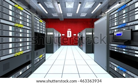 3D CG rendering of Supercomputing Center