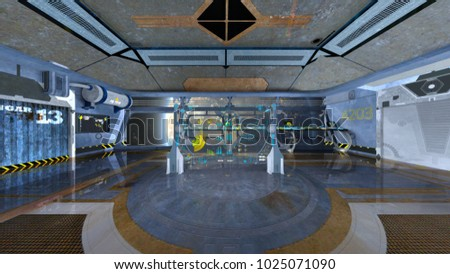 3D CG rendering of the control room