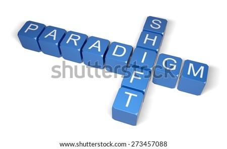 3D. Change, paradigm, The Media. - stock photo