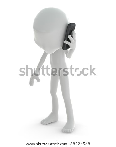 3D character holding colorful balloons isolated on white background - stock photo