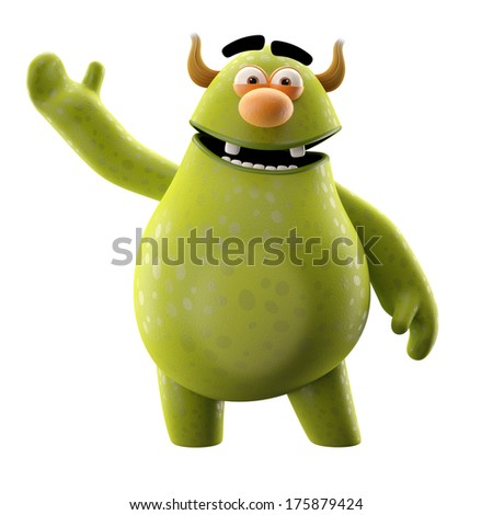 3D character - ideal as a mascot company or brand - stock photo
