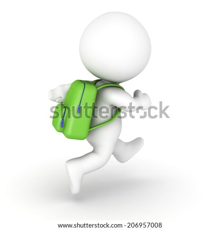 3D Character with Backpack