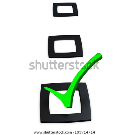 3d checking list with check sign isolated on white  - stock photo