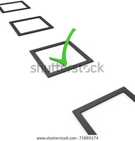 3d  checking list with check sign isolated on white