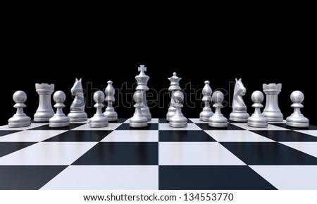 3d chess - stock photo