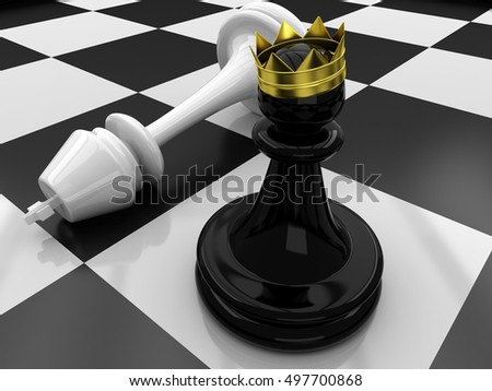 3D Chess. Pawn defeated King