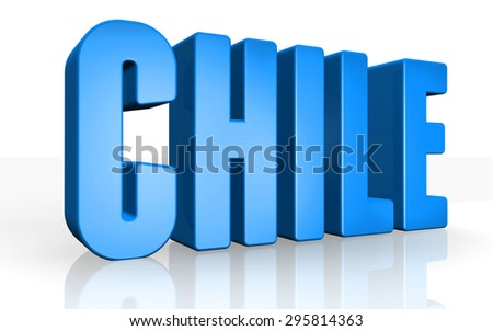 3D chile text on white background