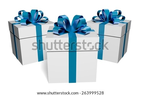3D. Christmas, Gift, Christmas Present. - stock photo