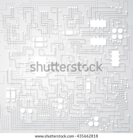 3d circuit board background texture. Rasterized illustration.