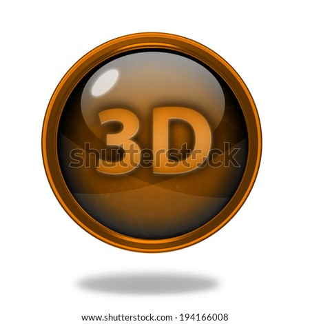 3d circular icon on white background