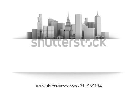 3d city - stock photo