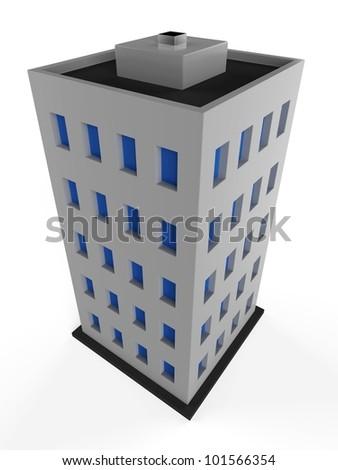 3D city building - stock photo