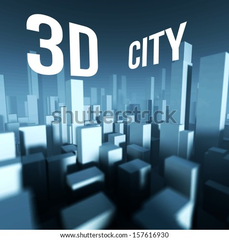 3d city in model of miniature downtown, Architectural creative concept