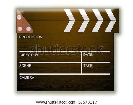 3d Clapperboard
